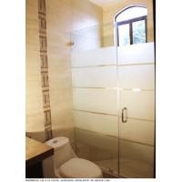 Cabina de baño de vidrio templado